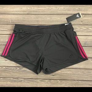 Adidas Design 2 Move Knit Shorts - Gray/Magenta
